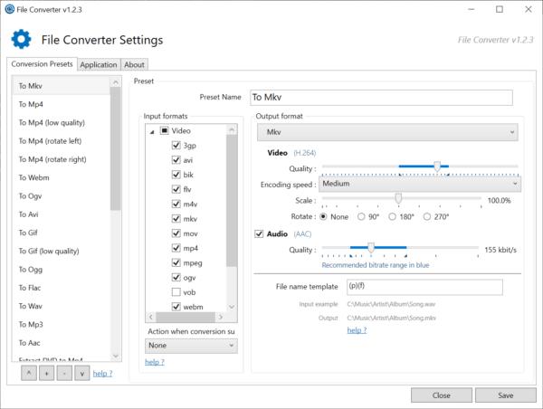 File Converter: chuyển đổi hàng loạt file từ menu chuột phải