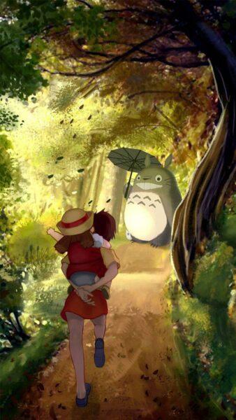 Ảnh nền Totoro dễ thương cho điện thoại