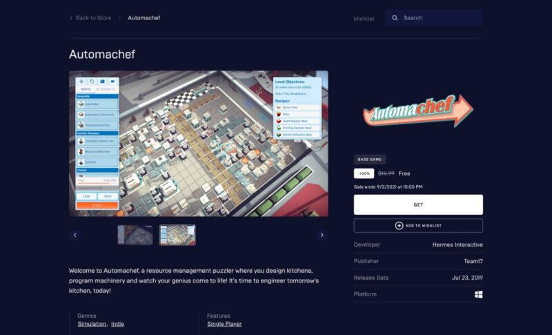 Đang miễn phí game Automachef