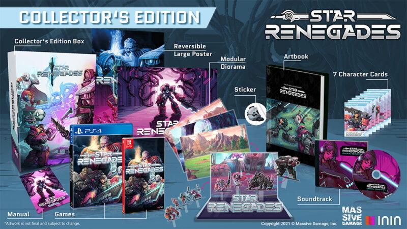 Bản Collector của game nhập vai chiến thuật Star Renegades cho Switch và PS4