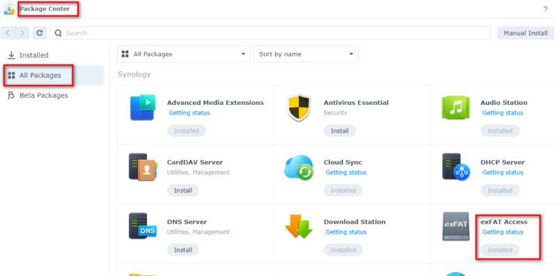 Synology exFAT Access