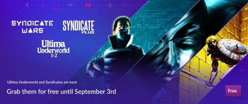 Đang miễn phí 4 game Ultima Underworld 1+2, Syndicate Plus và Syndicate Wars