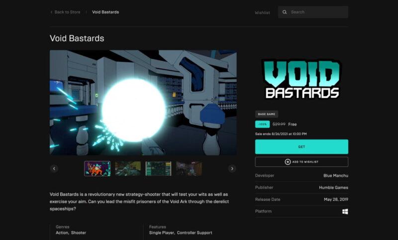 Đang miễn phí game Void Bastards