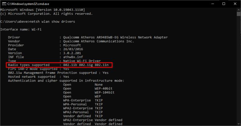 Cách kiểm tra laptop có hỗ trợ Wi-Fi 5GHz không?