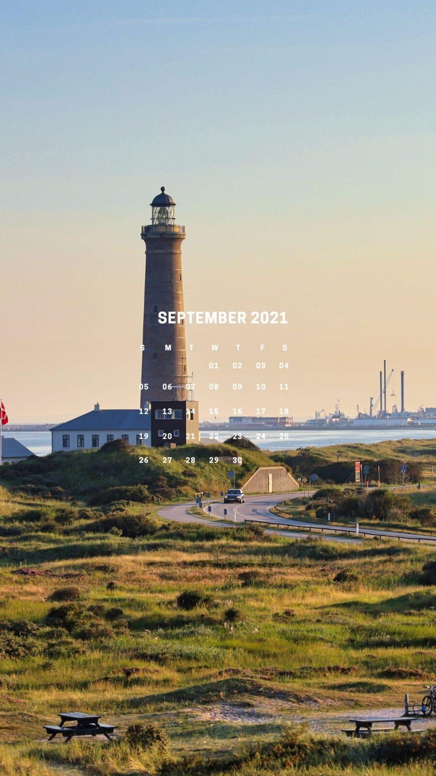 Ảnh nền lịch tháng 9/2021 dành cho iPhone