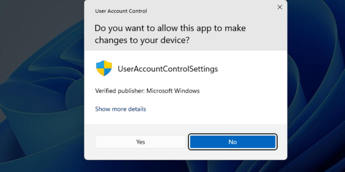 Cách vô hiệu hóa quyền kiểm soát tài khoản người dùng (UAC) trong Windows 11