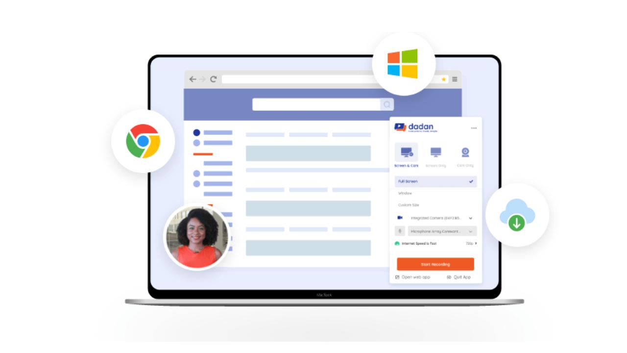 dadan: Quay video màn hình hỗ trợ quản lý tài khoản