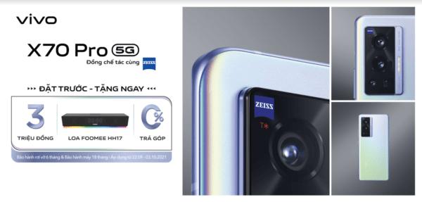 vivo X70 Pro ra mắt tại Việt Nam với camera ZEISS kết hợp chống rung Gimbal 3.0