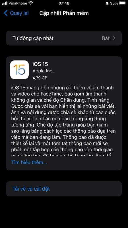 iOS 15 chính thức được ra mắt